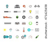 racing colored icon set. vector ... | Shutterstock .eps vector #471625658