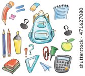 welcome back to school... | Shutterstock .eps vector #471627080