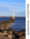 lighthouse in aberdeen  scotland   Shutterstock . vector #471627758