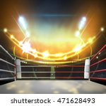 boxing ring with illumination...   Shutterstock . vector #471628493
