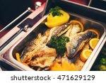 luxury food wedding table in... | Shutterstock . vector #471629129