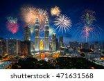 firework over kuala lumpur city ...   Shutterstock . vector #471631568