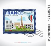 paris france vector travel... | Shutterstock .eps vector #471635756