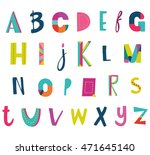 vector hand drawn funky... | Shutterstock .eps vector #471645140