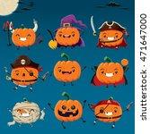 vintage halloween poster design ... | Shutterstock .eps vector #471647000