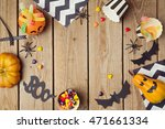 halloween holiday background... | Shutterstock . vector #471661334
