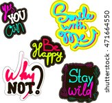 inspirational quotes typography ... | Shutterstock .eps vector #471664550