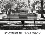 Senior Man Sitting On A Bench...