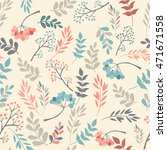 floral seamless pattern on... | Shutterstock .eps vector #471671558
