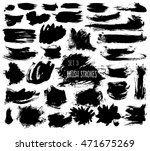 set of messy brushstrokes... | Shutterstock .eps vector #471675269