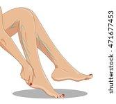 varicosity. tired female legs... | Shutterstock .eps vector #471677453