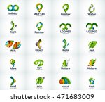 set of abstract vector company... | Shutterstock .eps vector #471683009