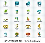 set of abstract vector company... | Shutterstock .eps vector #471683129