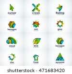 set of abstract vector company... | Shutterstock .eps vector #471683420