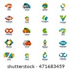 set of abstract vector company... | Shutterstock .eps vector #471683459