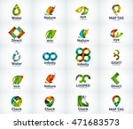 set of abstract vector company... | Shutterstock .eps vector #471683573