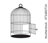 birdcage with open door. vector ... | Shutterstock .eps vector #471683714