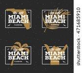 miami beach florida t shirt... | Shutterstock .eps vector #471685910