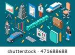 business 3d isometric... | Shutterstock .eps vector #471688688