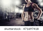 young beautiful athlete woman... | Shutterstock . vector #471697418