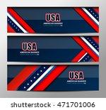 usa flag color banner... | Shutterstock .eps vector #471701006