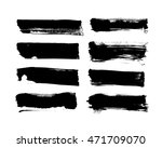brush strokes with rough edge.... | Shutterstock .eps vector #471709070