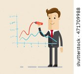businessman or manager drawing... | Shutterstock .eps vector #471709988