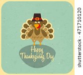 happy thanksgiving card.... | Shutterstock .eps vector #471710120