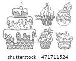 dessert illustration vector set ... | Shutterstock .eps vector #471711524