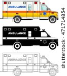 different kind ambulance cars... | Shutterstock .eps vector #471714854