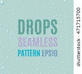 set of water transparent drops... | Shutterstock .eps vector #471715700