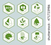 set of vector recycle eco icons.... | Shutterstock .eps vector #471723986