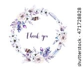 watercolor floral boho  flower... | Shutterstock . vector #471728828