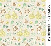 sport fitness objects pattern | Shutterstock .eps vector #471732500