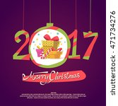 figures 2017 and the words... | Shutterstock .eps vector #471734276
