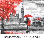oil painting on canvas  street... | Shutterstock . vector #471735230