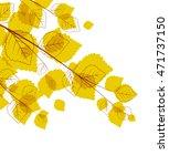 vector flying autumn leaves...   Shutterstock .eps vector #471737150