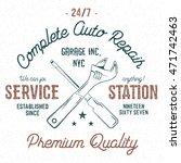 service station vintage label ... | Shutterstock .eps vector #471742463