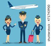 professional aviation crew... | Shutterstock .eps vector #471743900