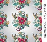 doodle abstract flower. vector... | Shutterstock .eps vector #471744623