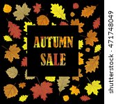 sales banner with autumn leaves.... | Shutterstock .eps vector #471748049