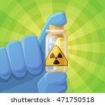 radioactivity. cartoon vector... | Shutterstock .eps vector #471750518
