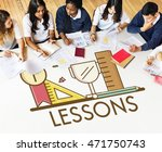 study learning lesson education ... | Shutterstock . vector #471750743