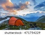touristic camp in a mountains | Shutterstock . vector #471754229
