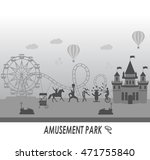 amusement park  and fairy tale... | Shutterstock .eps vector #471755840