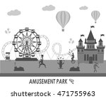 amusement park vector... | Shutterstock .eps vector #471755963
