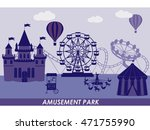amusement park  and fairy tale... | Shutterstock .eps vector #471755990