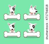 cartoon character bull terrier...   Shutterstock .eps vector #471756818