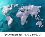 vector world map in polygonal... | Shutterstock .eps vector #471759470