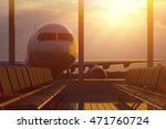 business air travel by plane ... | Shutterstock . vector #471760724